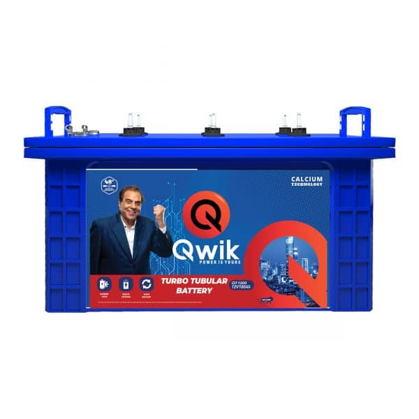 Qwik Short Tubular Battery QT1200-100AH - online battery store in hyderabad