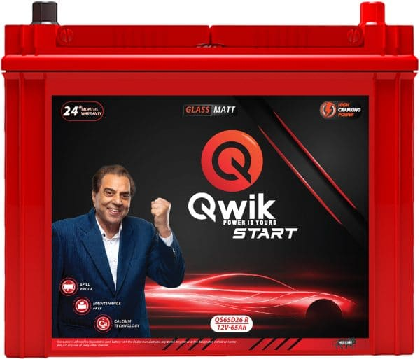 Qwik Load QL65D26 R - online battery store in hyderabad