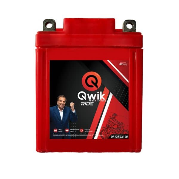 two wheeler battery | Qwik Ride QR12R 2.5 LB